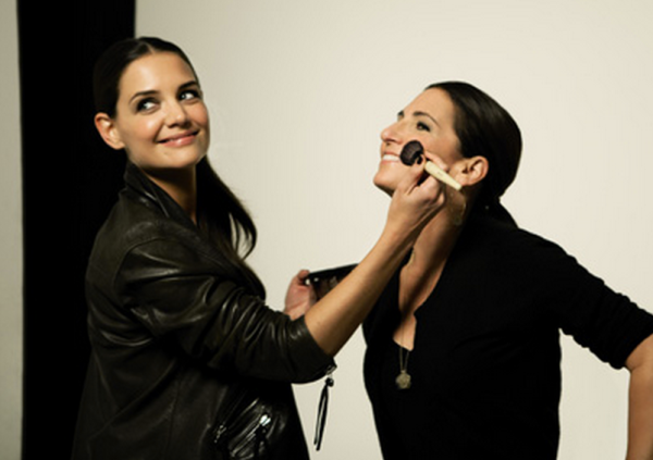 Katie Holmes and Bobbi Brown courtesy of Facebook