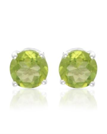Ladies Peridot Earrings Made of 925 Sterling Silver, $9 on Modnique