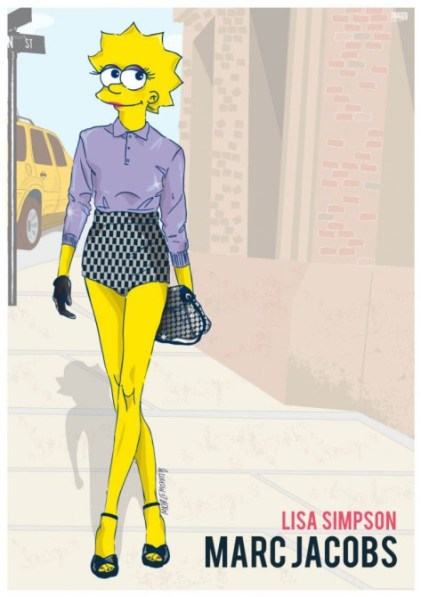 Lisa Simpson in Marc Jacobs courtesy of StyleCaster