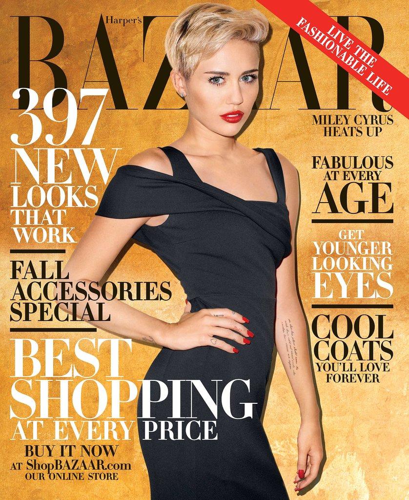 e19665fb7d Miley Cyrus Harper s Bazaar October 2013