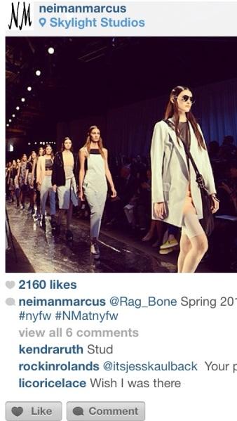 Rag & Bone Spring 2014 courtesy of Neiman Marcus Instagram
