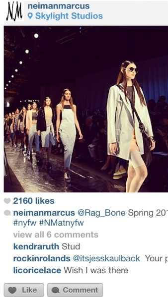 Rag & Bone Spring 2014 courtesy of Neiman Marcus Instagram