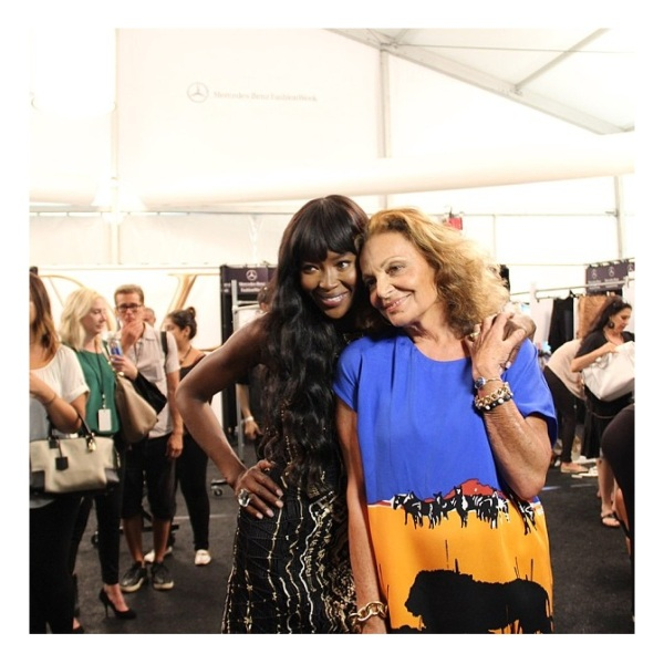 Naomi Campbell and Diane Von Furstenberg courtesy of Instagram
