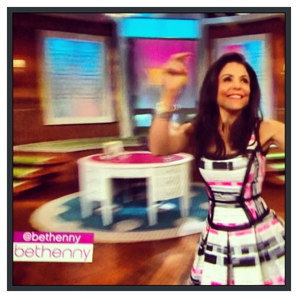 Bethenny Frankel in Milly on the debut of her talk show.