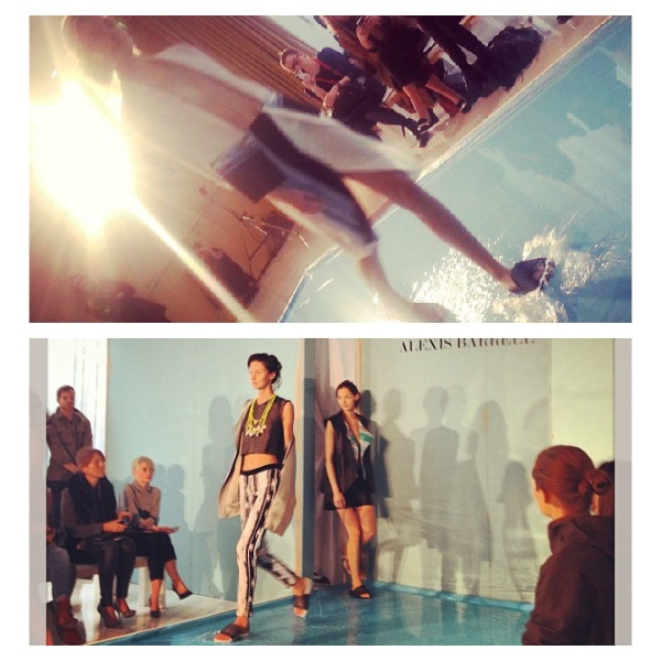 Alexis Barrell Spring 2014 at London Fashion Week courtesy of Instagram