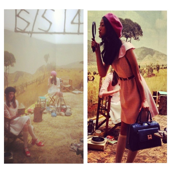 Orla Kiely Spring 2014 at London Fashion Week courtesy of Instagram