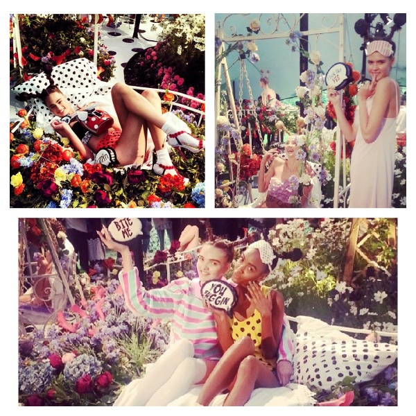 Sophia Webster Spring 2014 at London Fashion Week courtesy of Instagram