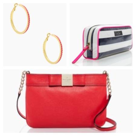 Kade Spade Hoops, Cosmetic Case, and Crossbody Handbag