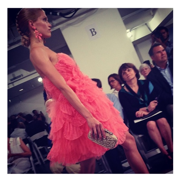 Oscar de la Renta Spring 2014 courtesy of Instagram