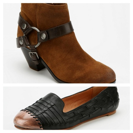 Urban Outfitters Sam Edelman Bootie, $97.99, and Dolce Vita Loafer, $83.99