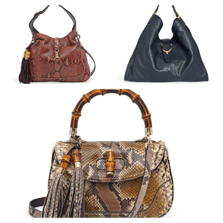 Gucci Jackie Bag, Soft Stirrup Bag, and Bamboo Bag