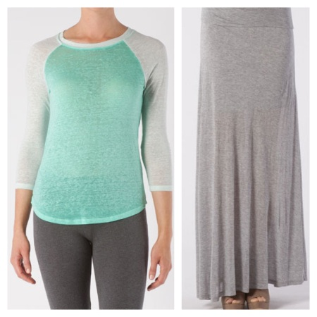 Threads 4 Thought: Tee, $22.49, and Maxi, $48.74