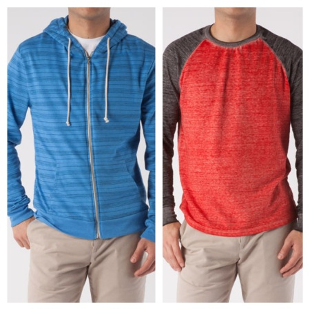 Threads 4 Thought: Zip Hoodie, $30.45, and Raglan, $30.45
