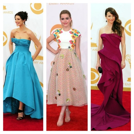 Jessica Pare, Kiernan Shipka, and Linda Cardellini Emmy Awards 2013 courtesy of Pinterest
