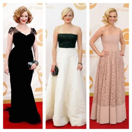 Christina Hendricks, Elisabeth Moss, and January Jones Emmy Awards 2013 courtesy of Pinterest
