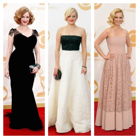 Christina Hendricks, Elisabeth Moss, and January Jones Emmy Awards 2013 courtesy of Pinterest