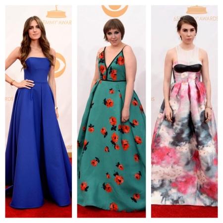 Allison Williams, Lena Dunham, and Zosia Mamet Emmy Awards 2013 courtesy of Pinterest
