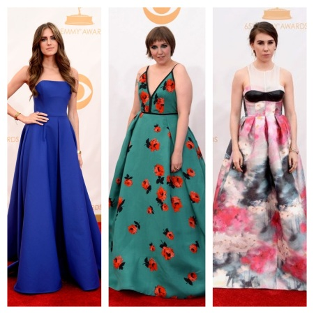 Allison Williams, Lena Dunham, and Zosia Mamet Emmy Awards 2013 courtesy of Pinterest