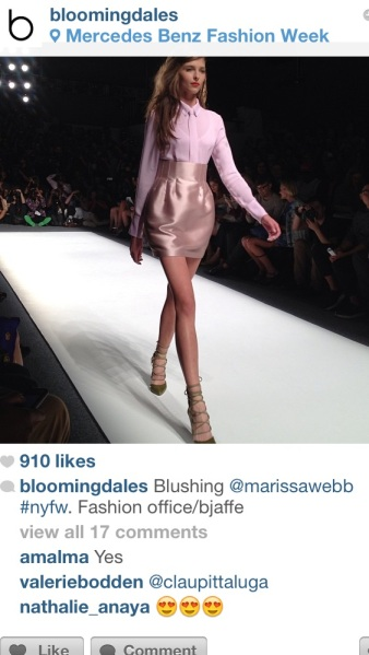 Bloomingdales at the Marissa Webb show