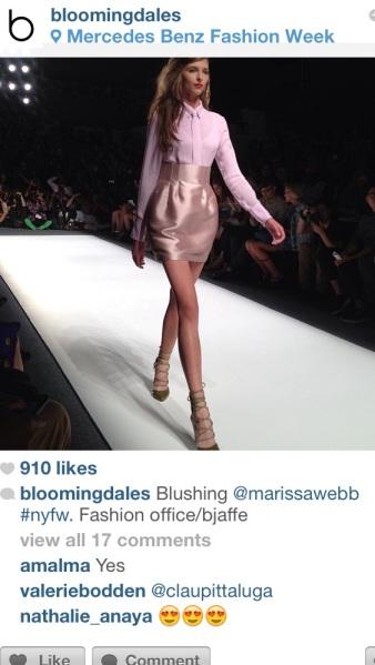 Bloomingdales at the Marissa Webb show