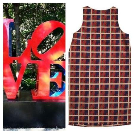 LOVE Stamp Dress
