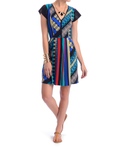 Plenty by Tracy Reese Mixed Tribal Print Frock Dress at South Moon Under on SALE for $198.40