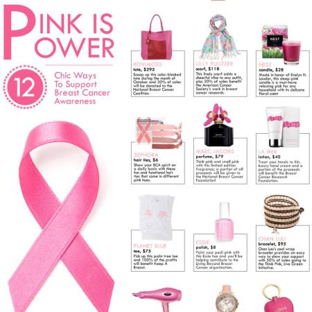 12 Chic Ways to Support Breast Cancer Awareness Month from The Zoe Report