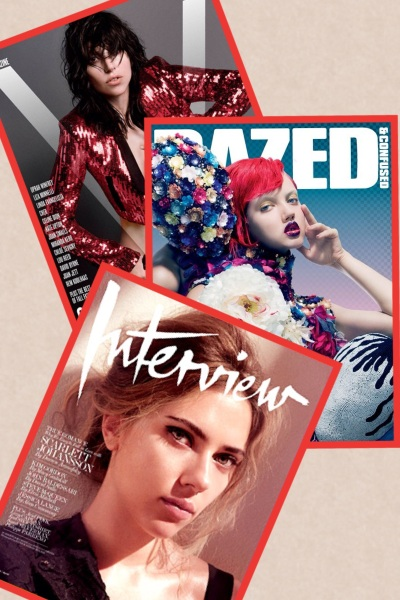 V Magazine Fall 2013, Dazed and Confused October 2013, and Interview October 2013