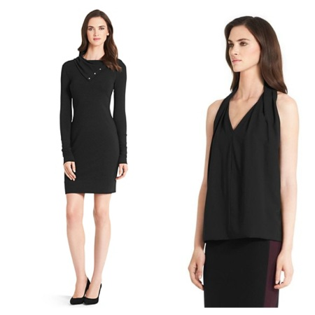 Turtle Cotton Knit Sheath Dress, $101.50, and Reagan Sleeveless Top, $94.50.