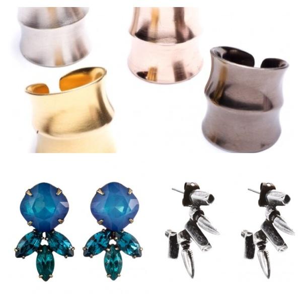 Jacinda Ring, $76, Luna Studs, $120, and Jaks Earrings, $116.