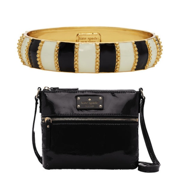 Harbor Stripe Bangle, $29, and Flicker Tenley Crossbody, $69.