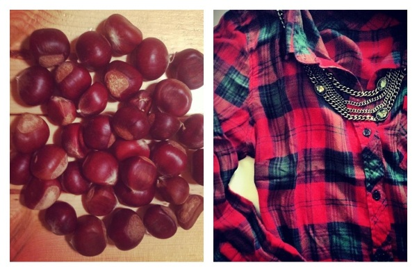 Chestnuts, courtesy of Grant Park Farmer's Market in Atlanta, and Flannels and Jewels, courtesy of South Moon Under.