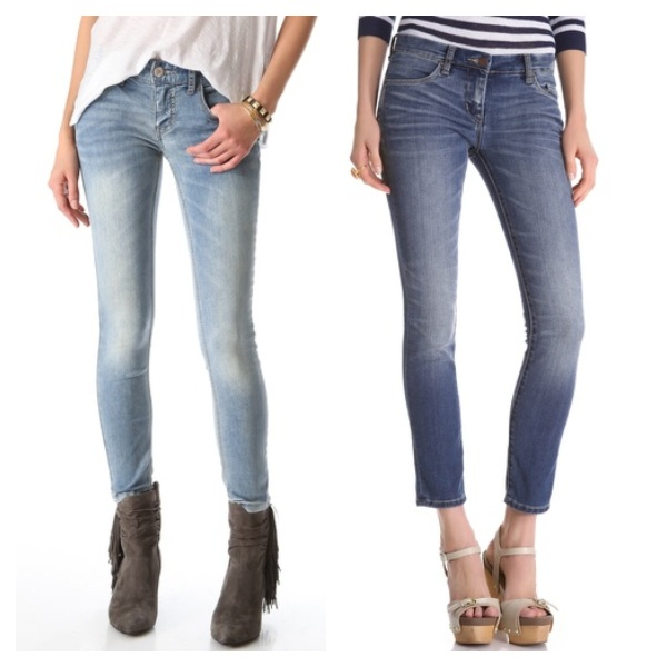 Free people Ankle Skinny Jean, $54.40, and BLANK Denim Cigarette Skinny Jeans, $54.60