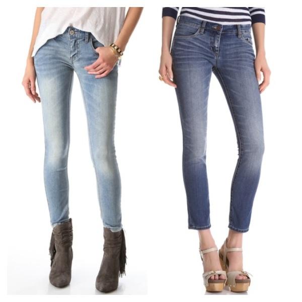 Free people Ankle Skinny Jean, $54.40, and BLANK Denim Cigarette Skinny Jeans, $54.60