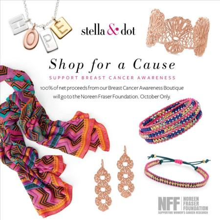 Stella & Dot Breast Cancer Awareness Collection, $29-$79