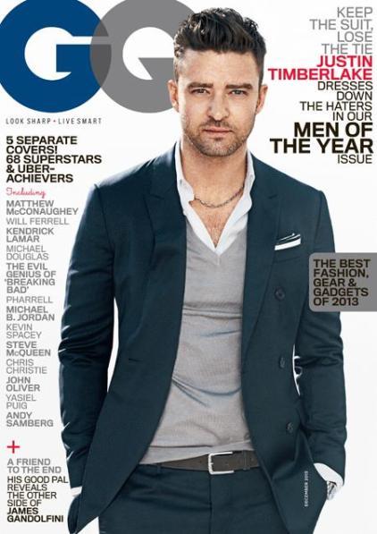 Justin Timberlake GQ Cover December 2013