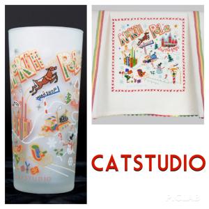 Catstudio North Pole Glass, $, and North Pole Dish Towel, $