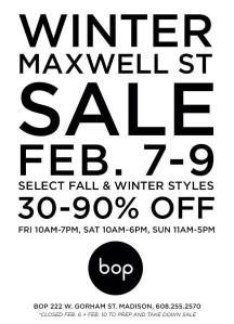 bop winter maxwell sale 2014