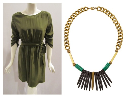 Kyle Dress by Sophia Reyes and Hulu Necklace by Alicia  Mohr