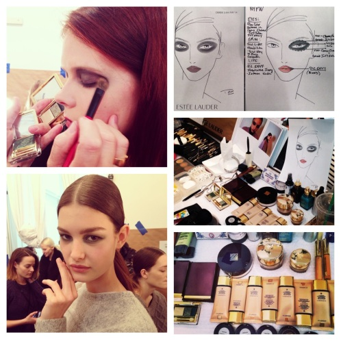 Images courtesy of the following Instagram accounts: Estee Lauder, Lucky Magazine, Harper's Bazaar, and Derek Lam.
