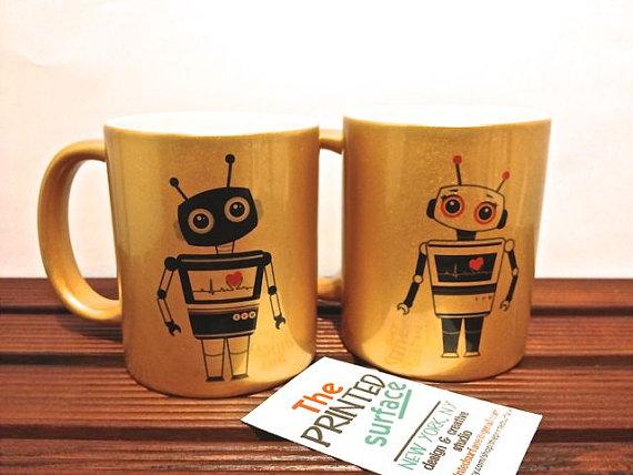 etsy robot mugs