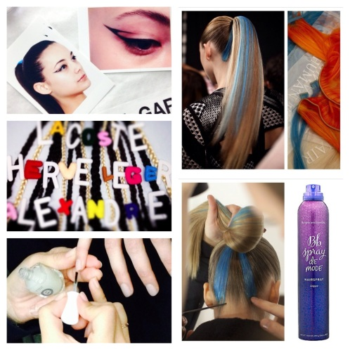 Images courtesy of the following Instagram accounts: Nordstrom, Bumble and Bumble, and Herve Leger.