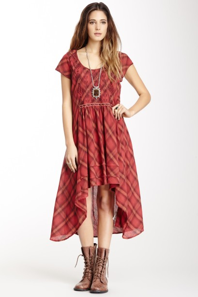 Free People Rad for Plaid Hi-Lo Dress, $69 at Hautelook and Nordstrom Rack