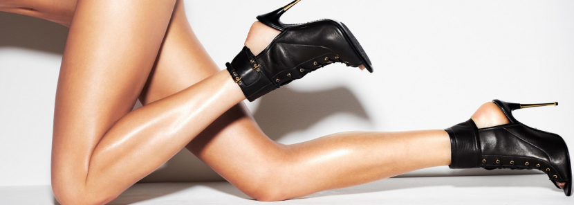 Tom Ford Leather Lace-Up Ankle Boot, $1790