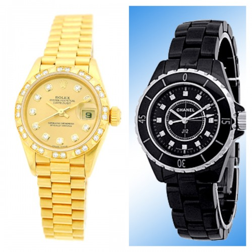 Rolex Datejust and Chanel J12