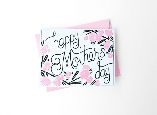 Limited Edition Hand Pressed Mother's Day Card