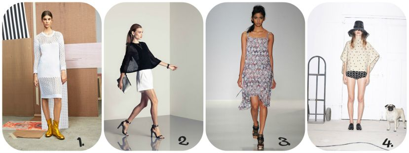 1. Derek Lam 10 Crosby 2. Halston Heritage 3. Marissa Webb 4. Band of Outsiders
