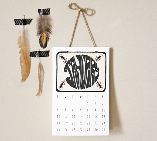 Native Bear Calendar